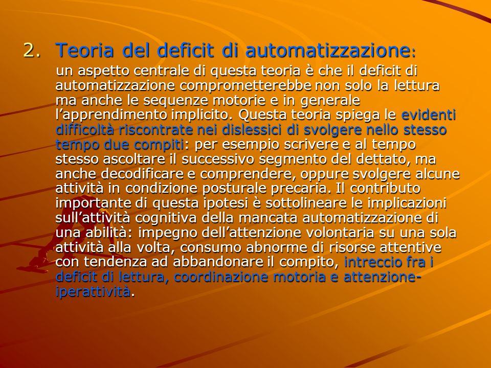Teoria del deficit di automatizzazione:
