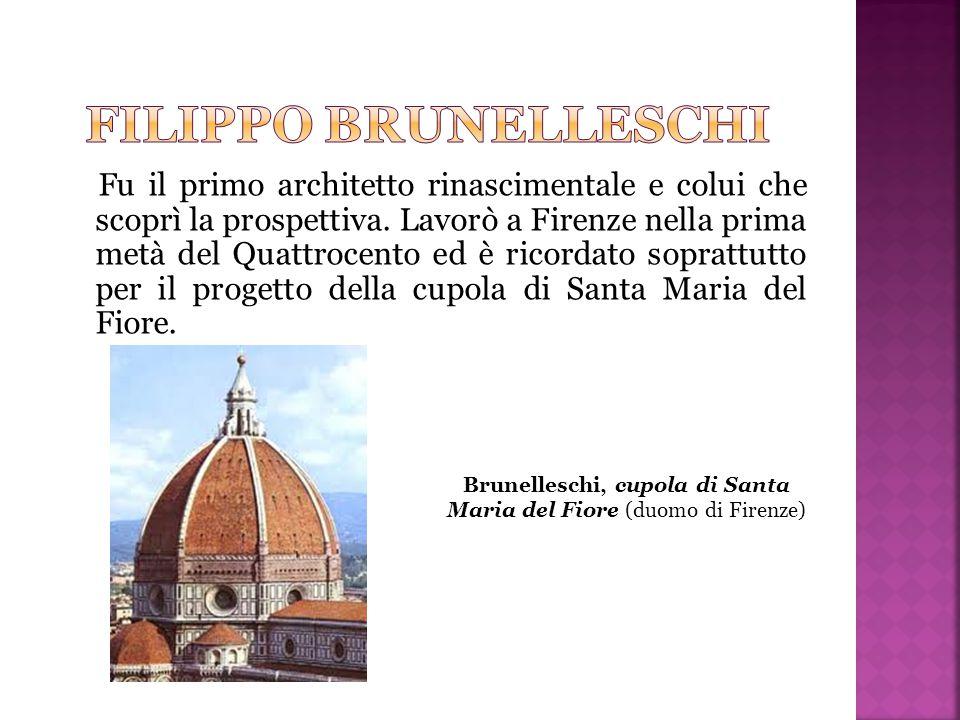 Brunelleschi, cupola di Santa Maria del Fiore (duomo di Firenze)