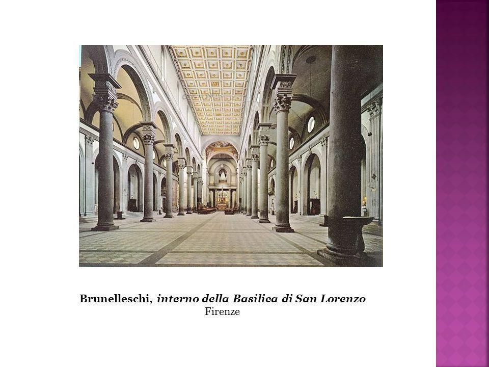 Brunelleschi, interno della Basilica di San Lorenzo