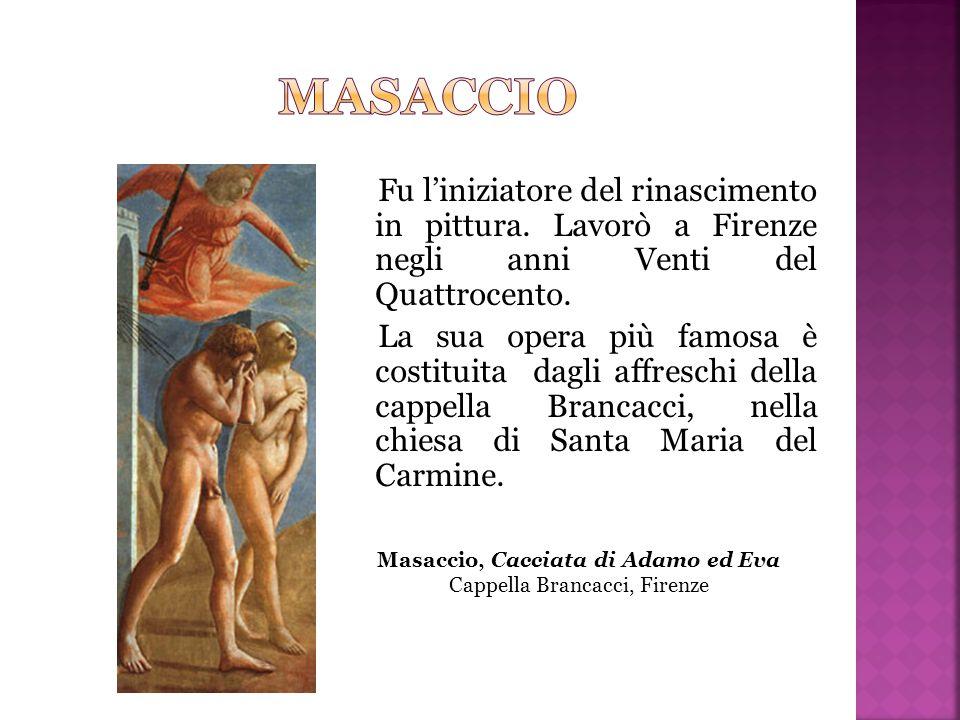 Masaccio, Cacciata di Adamo ed Eva