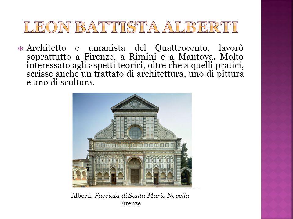 Alberti, Facciata di Santa Maria Novella