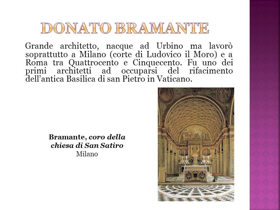 Bramante, coro della chiesa di San Satiro