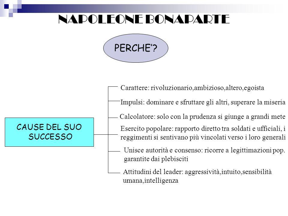 NAPOLEONE BONAPARTE PERCHE' CAUSE DEL SUO SUCCESSO