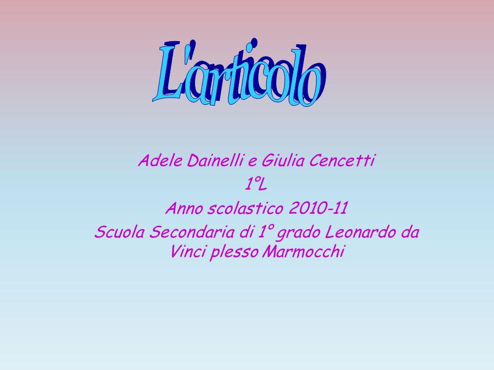 L articolo Adele Dainelli e Giulia Cencetti 1°L
