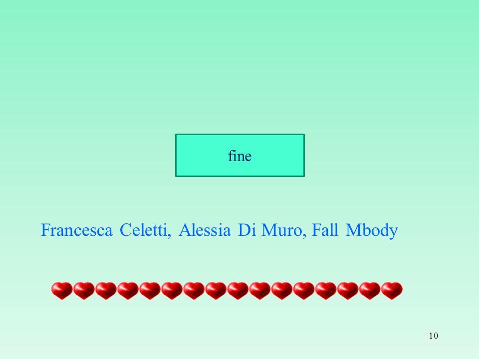 Francesca Celetti, Alessia Di Muro, Fall Mbody