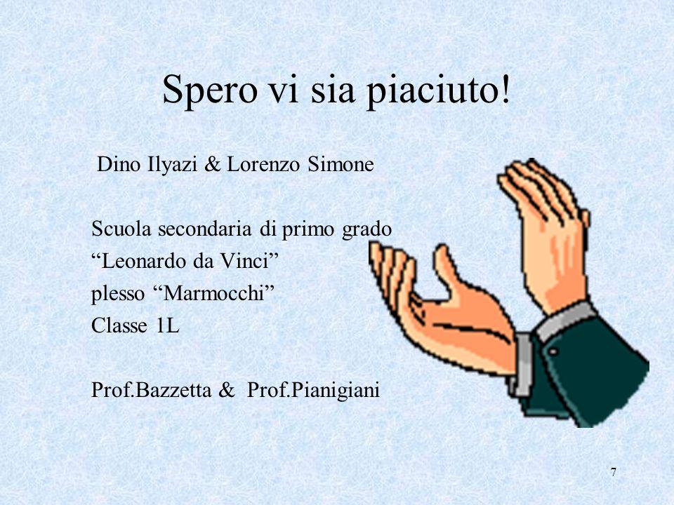 Spero vi sia piaciuto! Dino Ilyazi & Lorenzo Simone