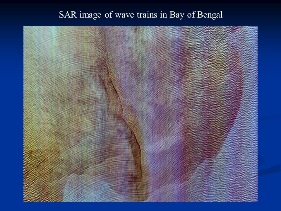 SAR image of wave trains in Bay of Bengal