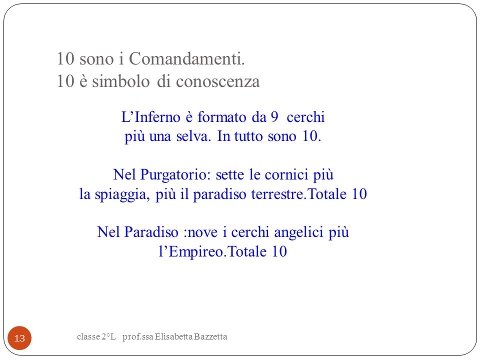 10 sono i Comandamenti. 10 è simbolo di conoscenza