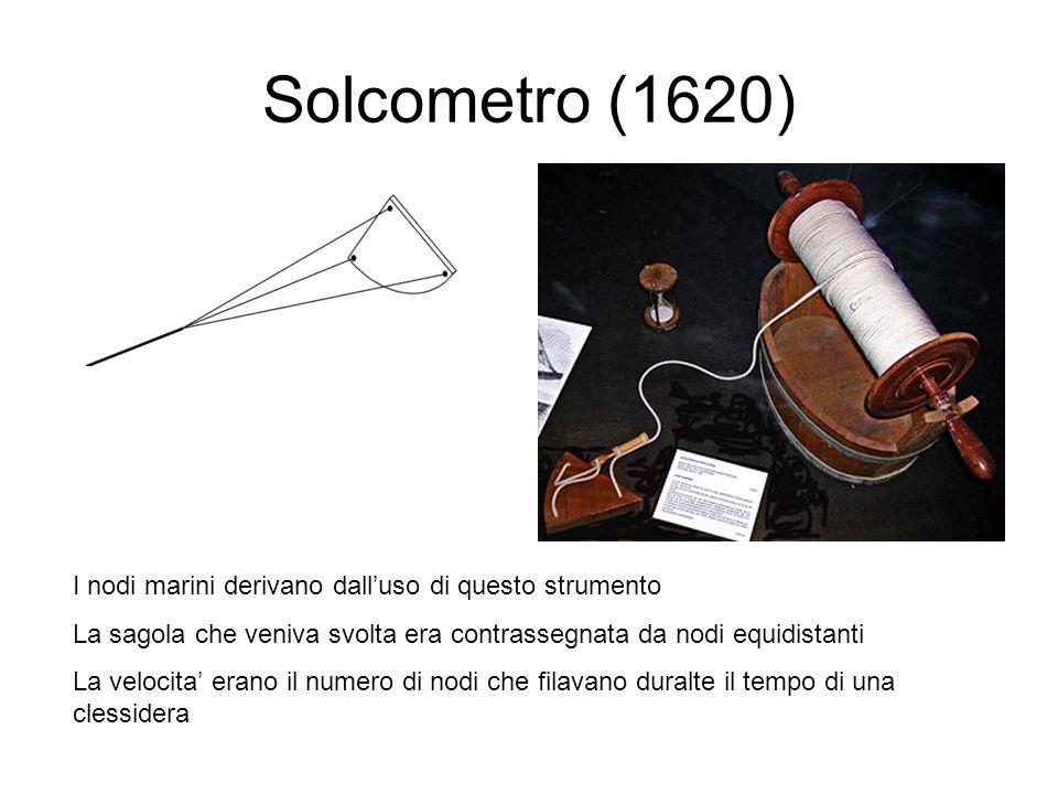 Solcometro (1620) I nodi marini derivano dall'uso di questo strumento