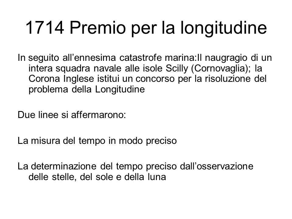 1714 Premio per la longitudine