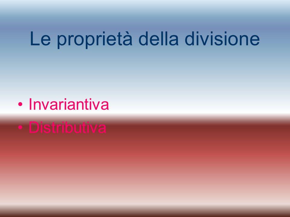 Le proprietà della divisione