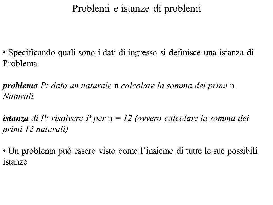 Problemi e istanze di problemi