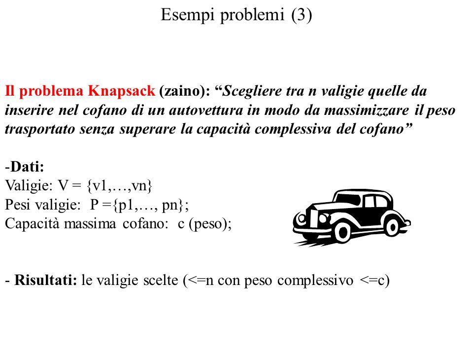 Esempi problemi (3)
