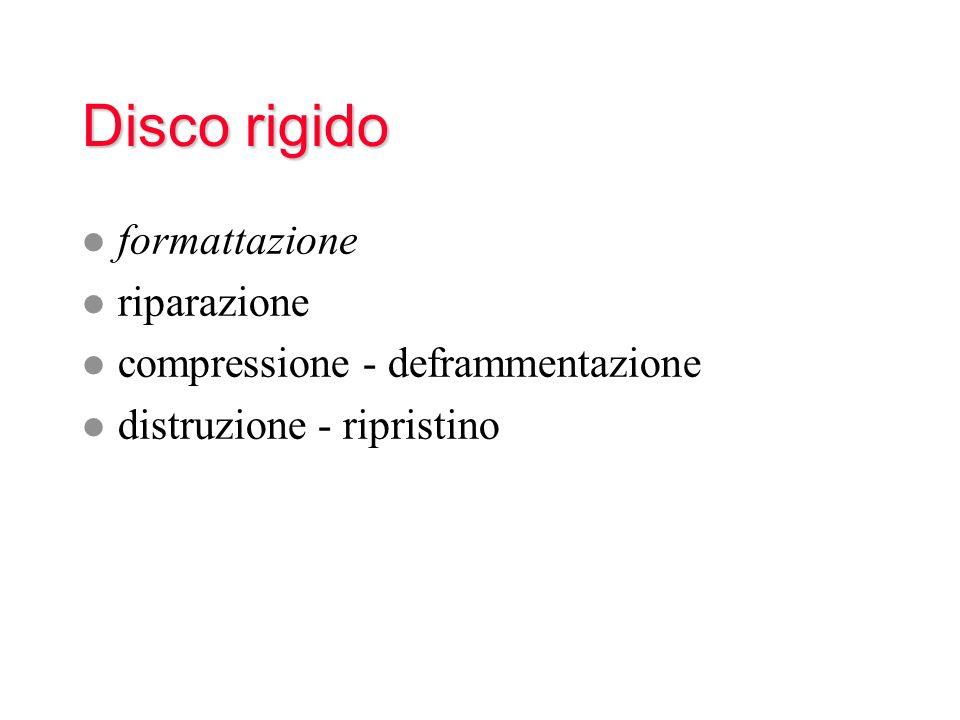Disco rigido formattazione riparazione compressione - deframmentazione