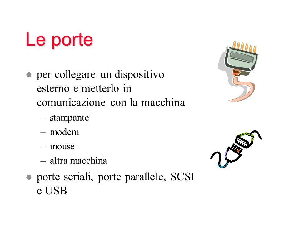 Le porte per collegare un dispositivo esterno e metterlo in comunicazione con la macchina. stampante.