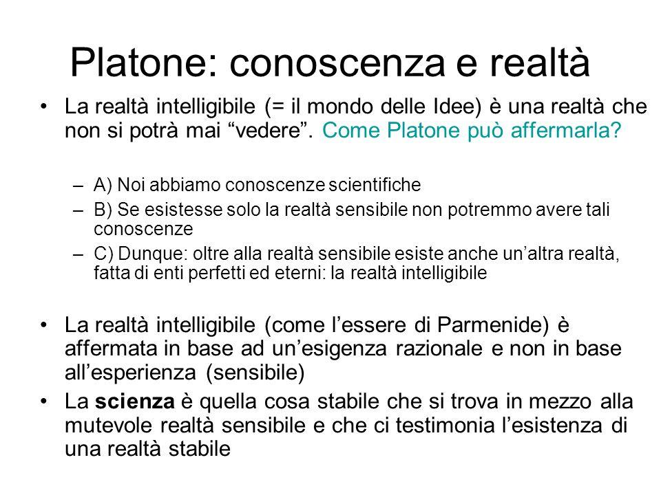 Platone: conoscenza e realtà