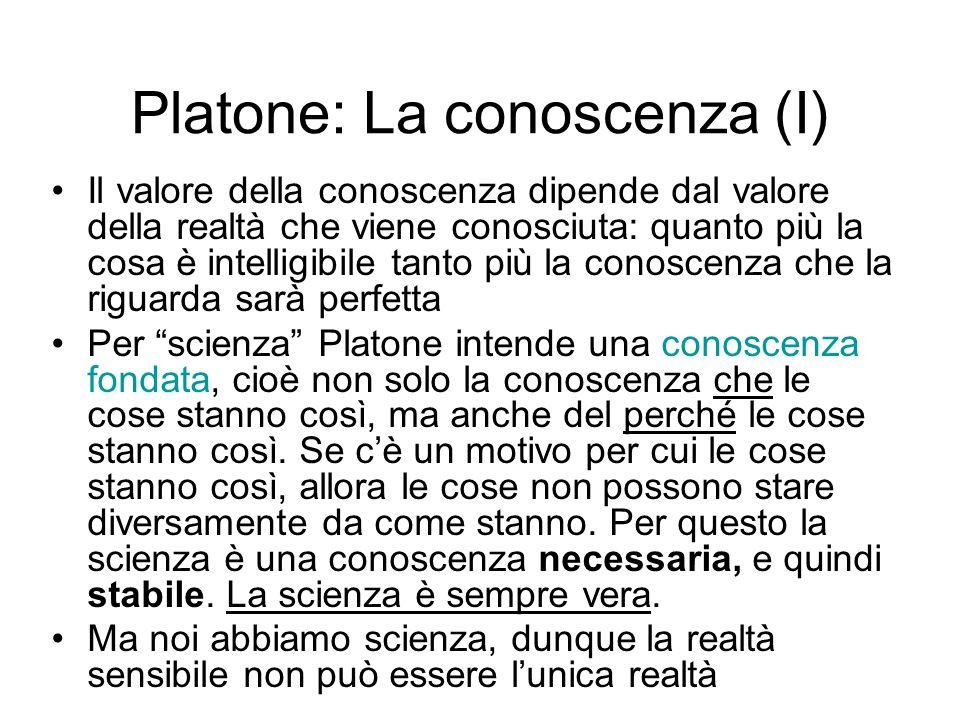 Platone: La conoscenza (I)