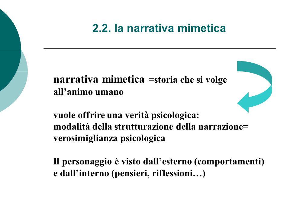 narrativa mimetica =storia che si volge
