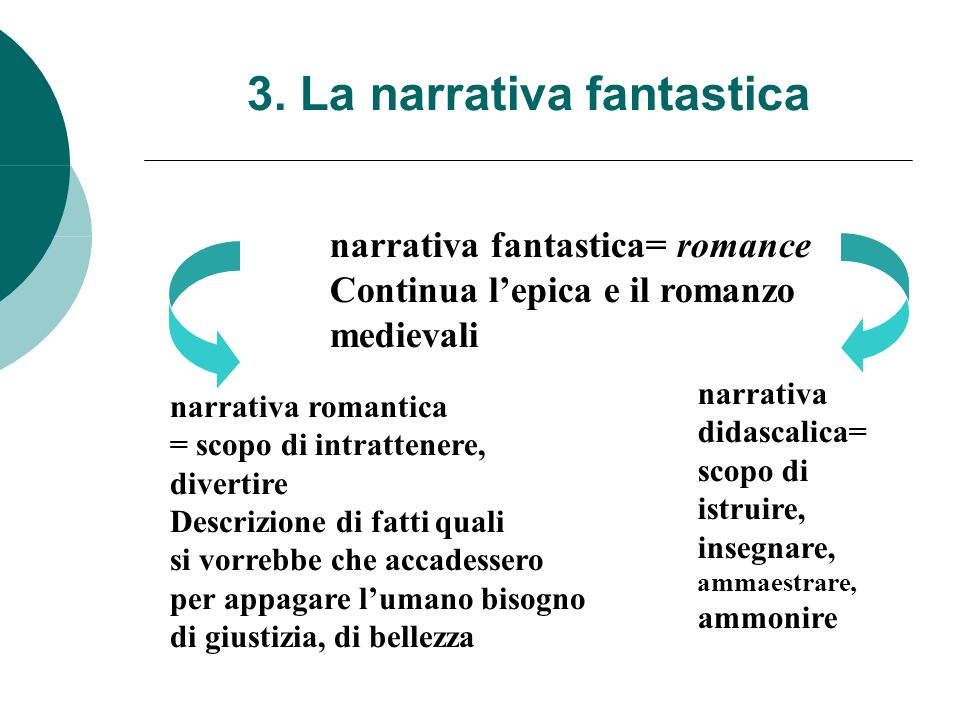3. La narrativa fantastica
