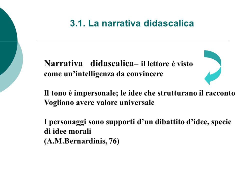 3.1. La narrativa didascalica
