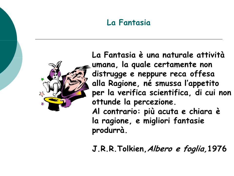 La Fantasia La Fantasia è una naturale attività. umana, la quale certamente non. distrugge e neppure reca offesa.