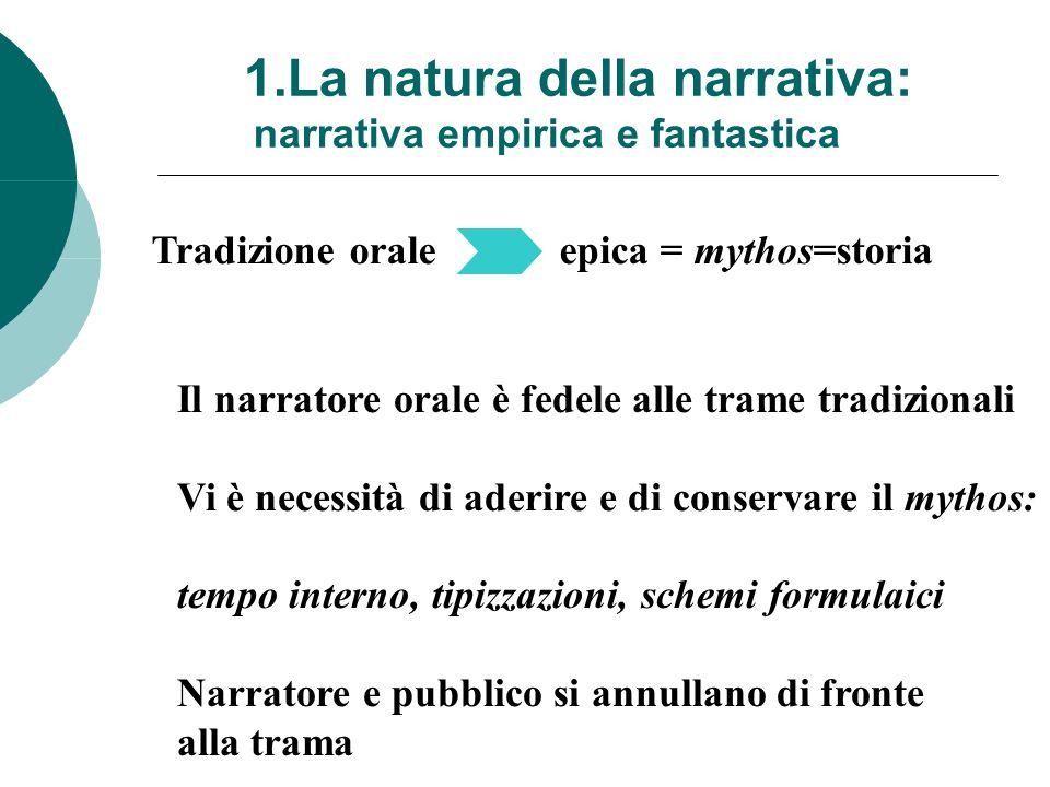 1.La natura della narrativa: narrativa empirica e fantastica