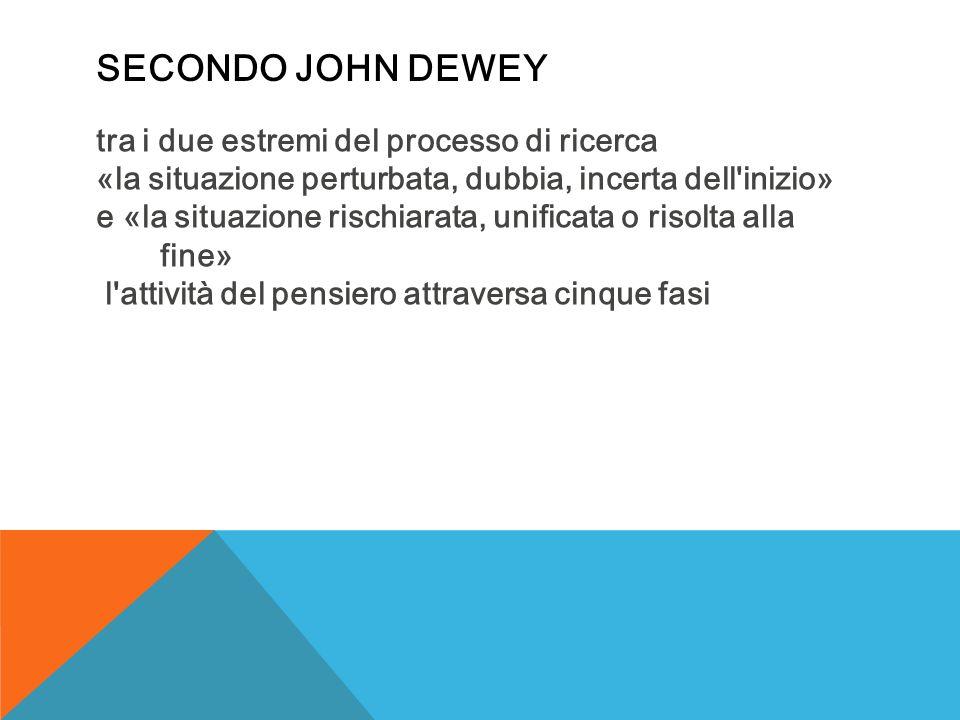 Secondo John Dewey