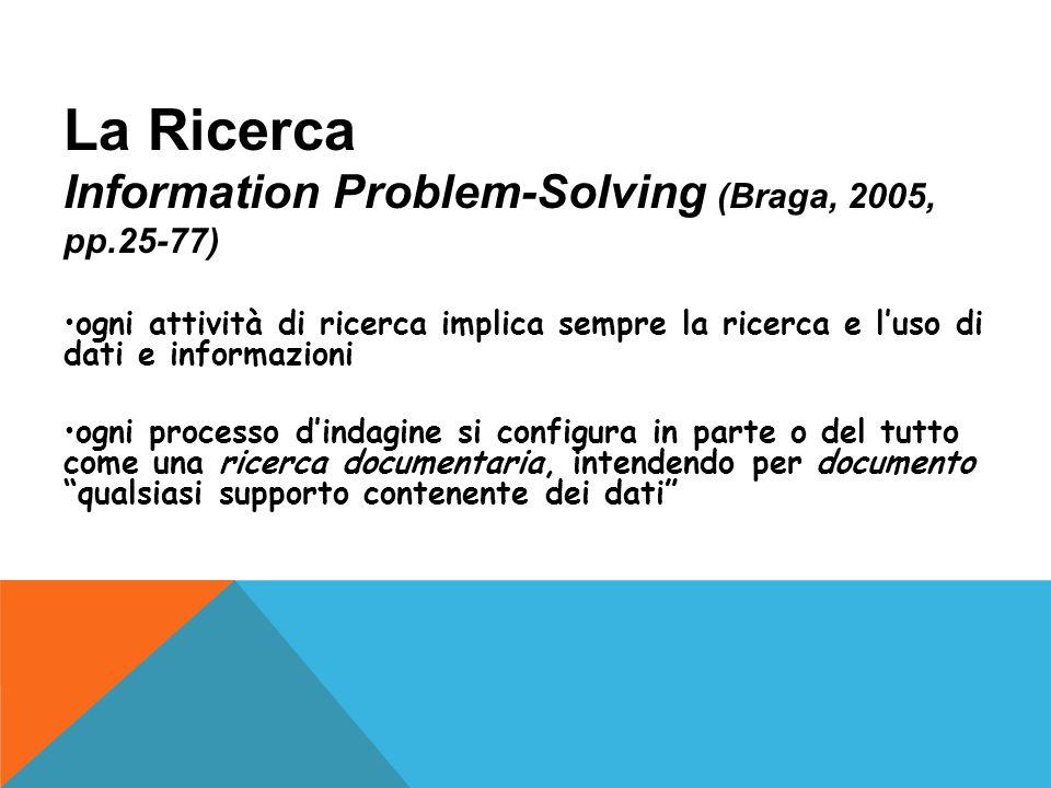 La Ricerca Information Problem-Solving (Braga, 2005, pp.25-77)