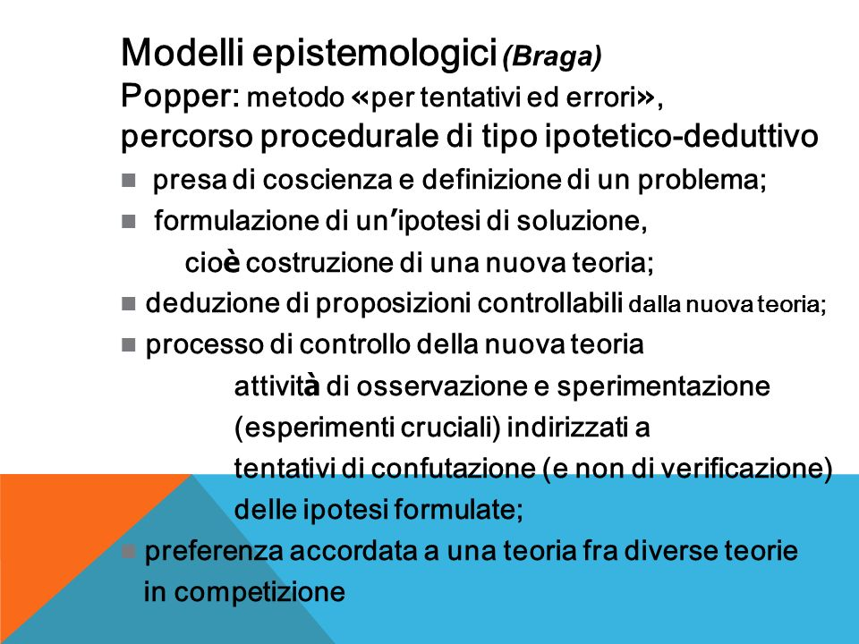 Modelli epistemologici (Braga)
