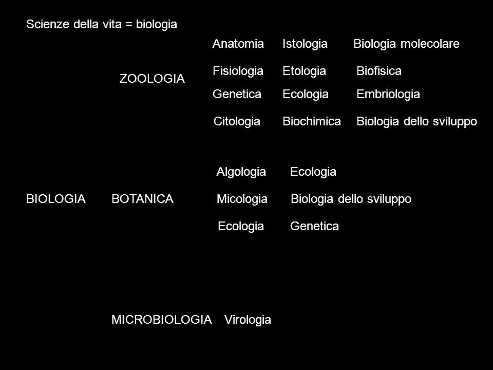 Scienze della vita = biologia