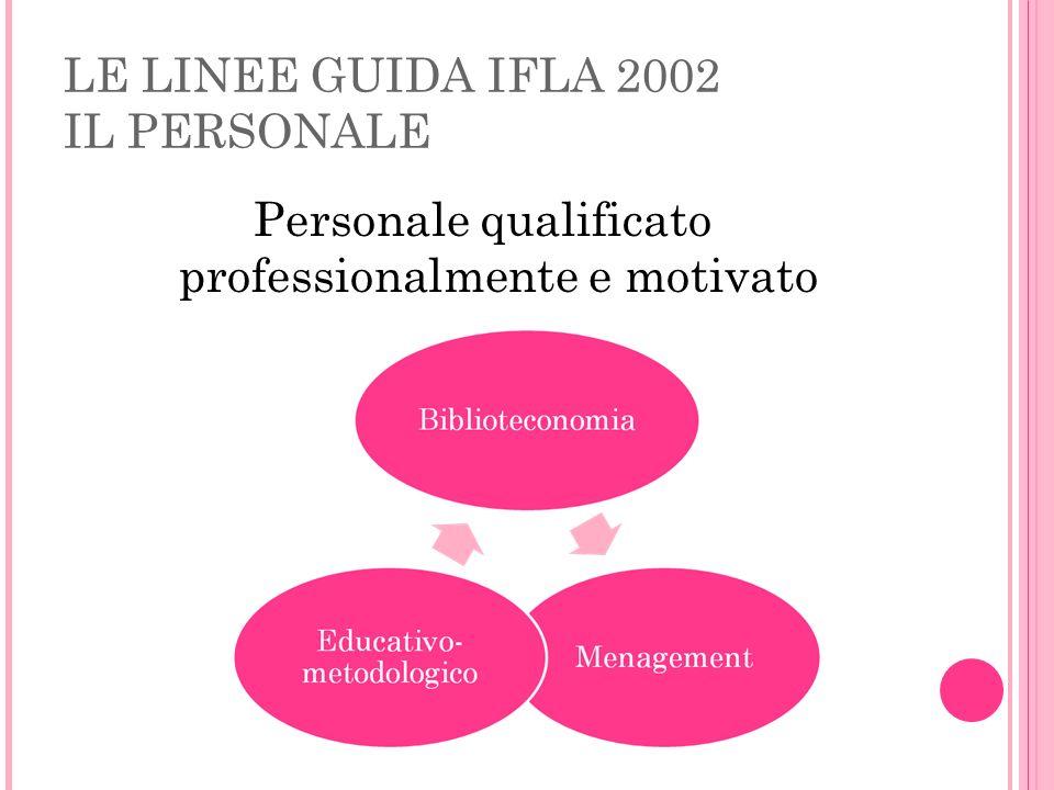 Personale qualificato professionalmente e motivato