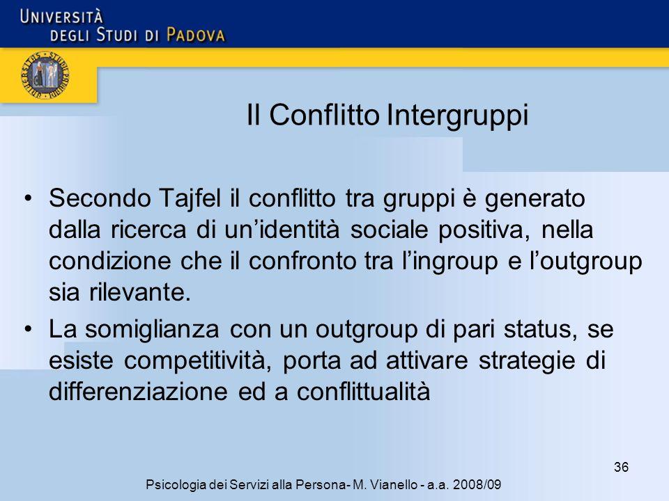 Il Conflitto Intergruppi