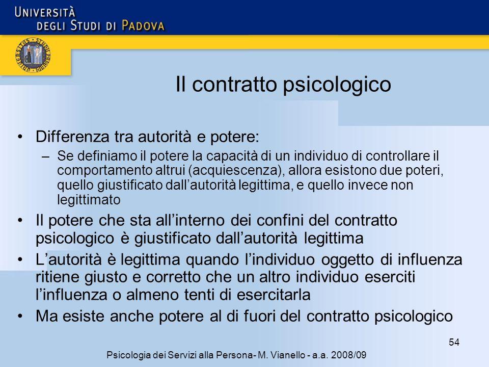Il contratto psicologico