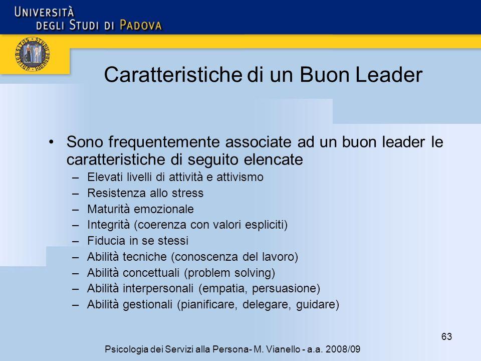 Caratteristiche di un Buon Leader