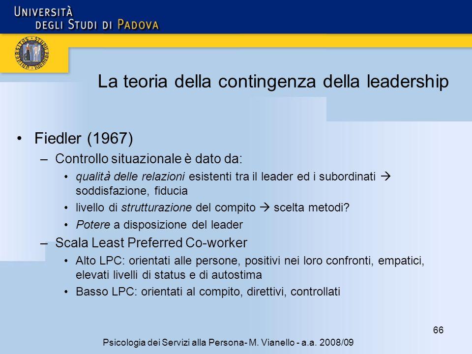 La teoria della contingenza della leadership