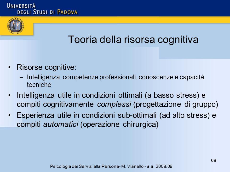 Teoria della risorsa cognitiva