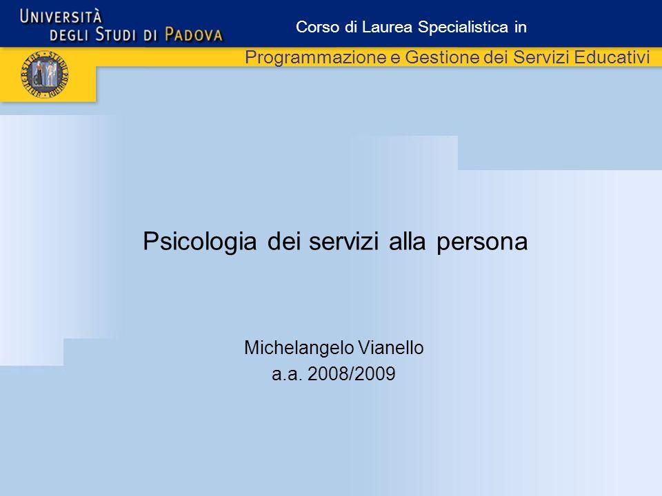 Psicologia dei servizi alla persona