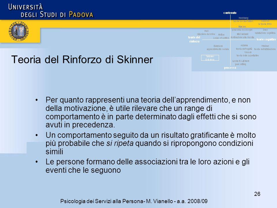 Teoria del Rinforzo di Skinner