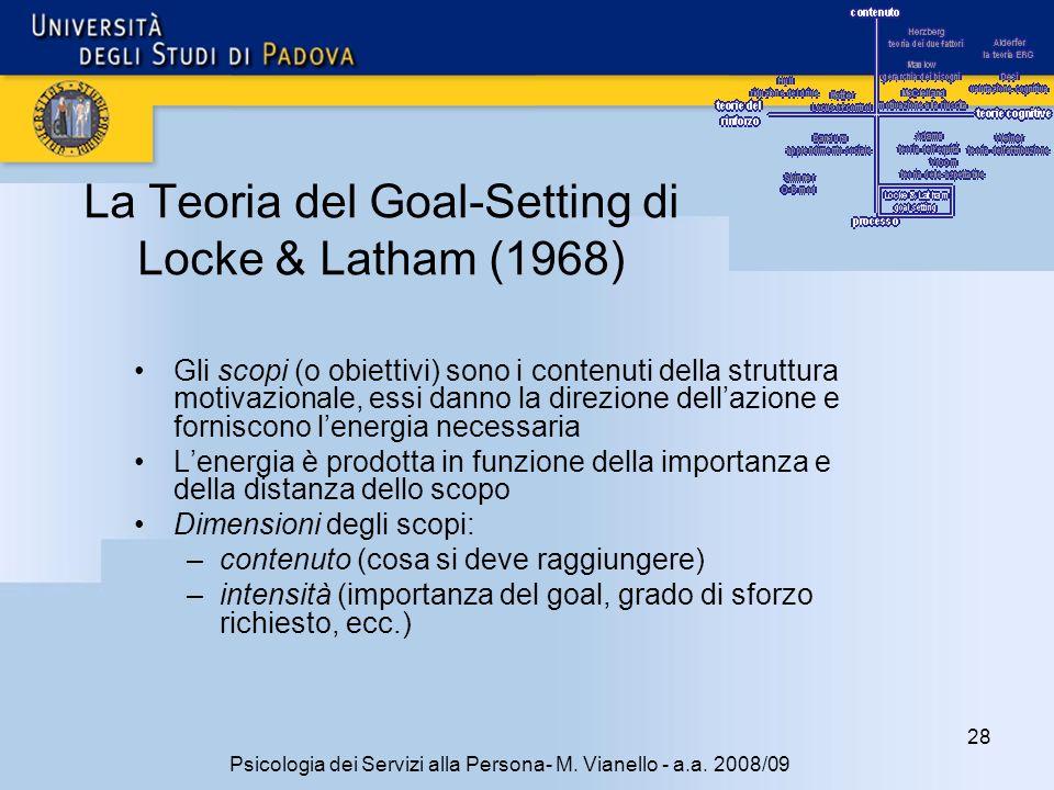 La Teoria del Goal-Setting di Locke & Latham (1968)