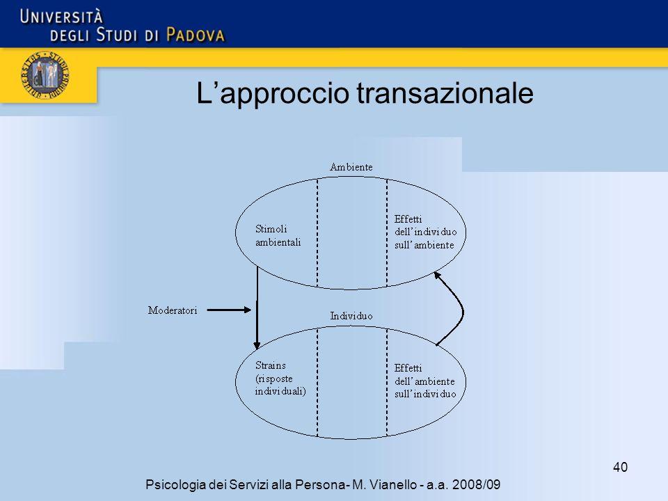 L'approccio transazionale
