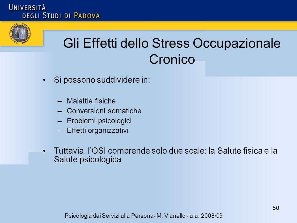 Gli Effetti dello Stress Occupazionale Cronico