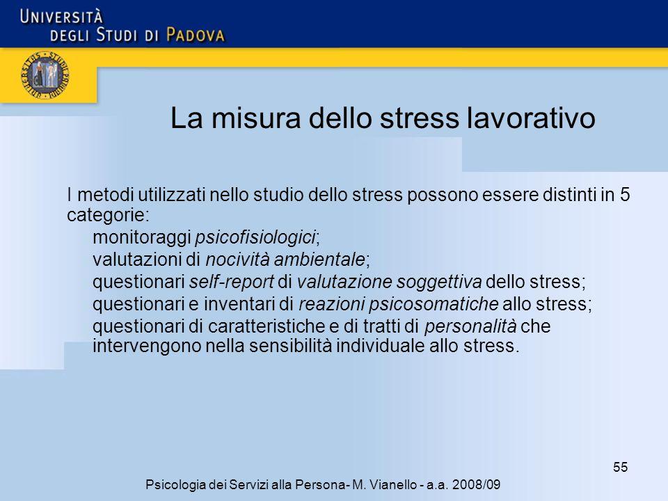 La misura dello stress lavorativo
