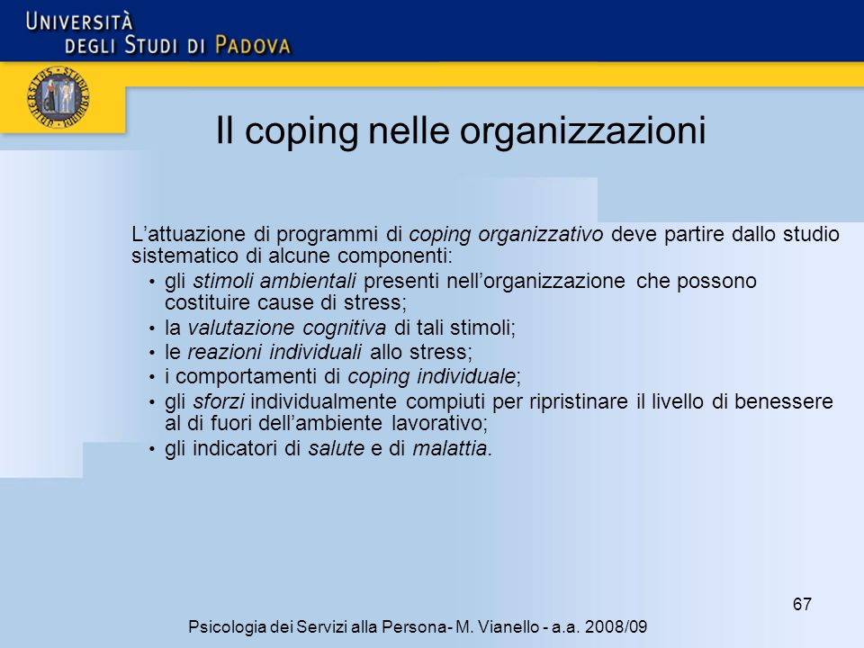 Il coping nelle organizzazioni