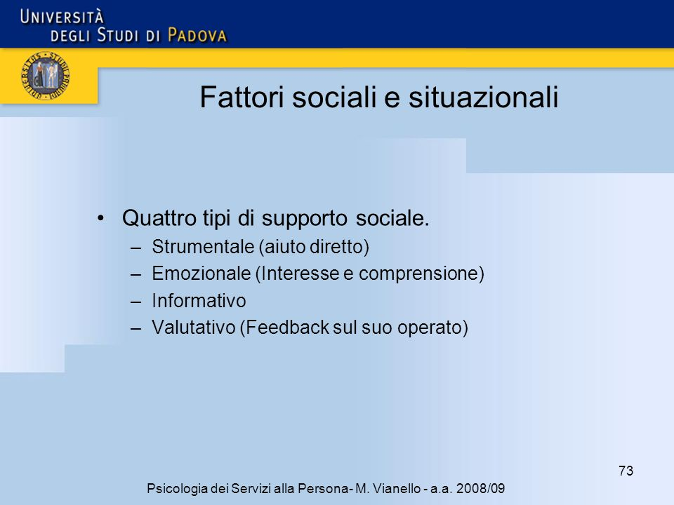 Fattori sociali e situazionali