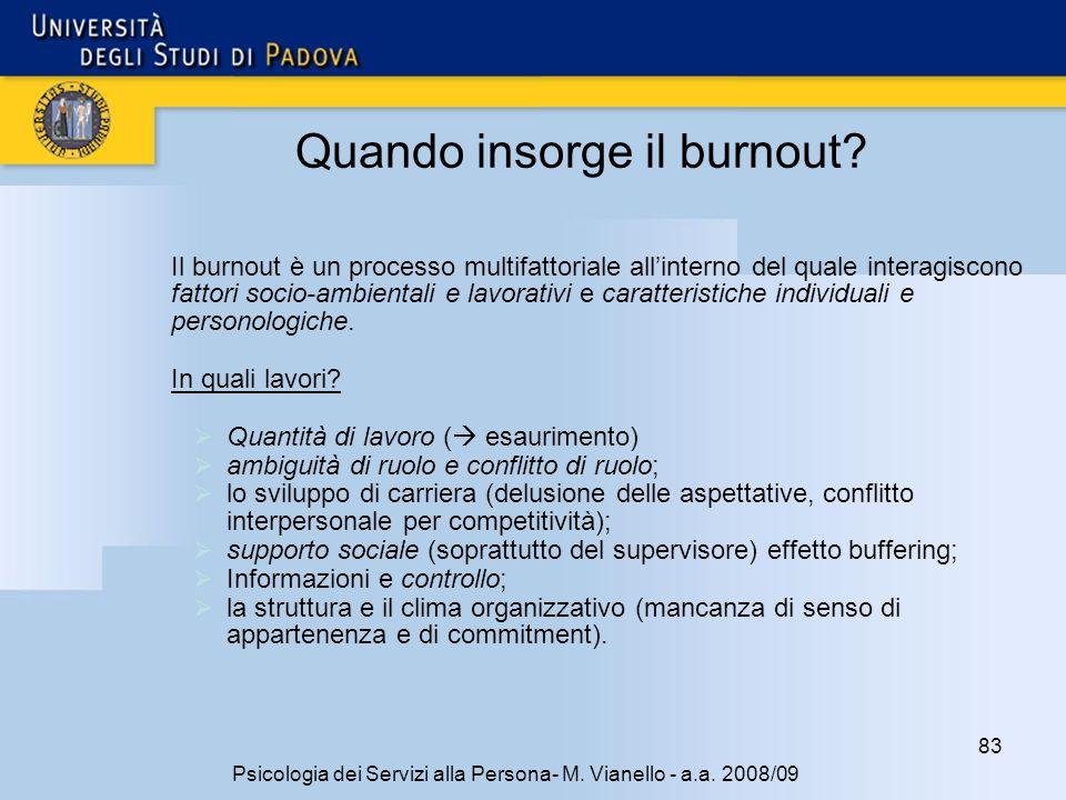 Quando insorge il burnout