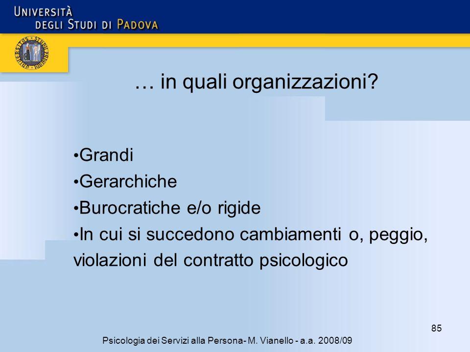 … in quali organizzazioni