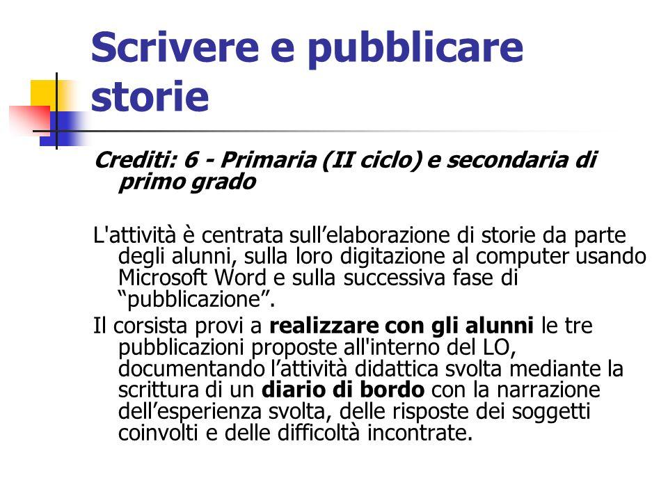 Scrivere e pubblicare storie