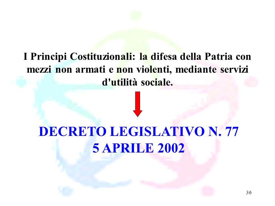 DECRETO LEGISLATIVO N. 77 5 APRILE 2002
