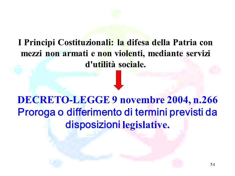 DECRETO-LEGGE 9 novembre 2004, n.266