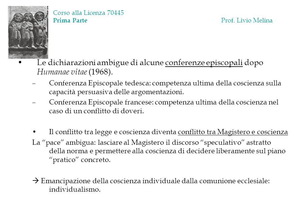 Corso alla Licenza 70445 Prima Parte Prof. Livio Melina